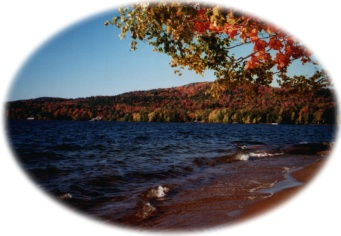 Fall at the Highland Lodge beach